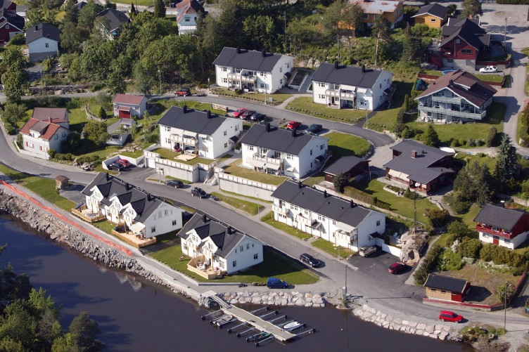 Vannsjø terrasse Moss rekkehus