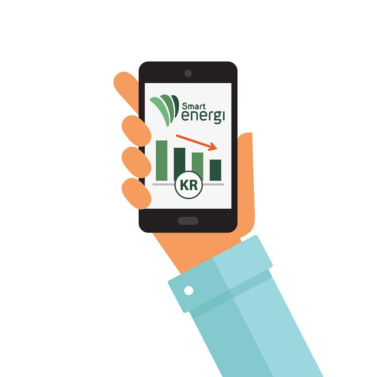 Med Future Living kan du sjekke forbruker og produksjon av strøm med telefonen