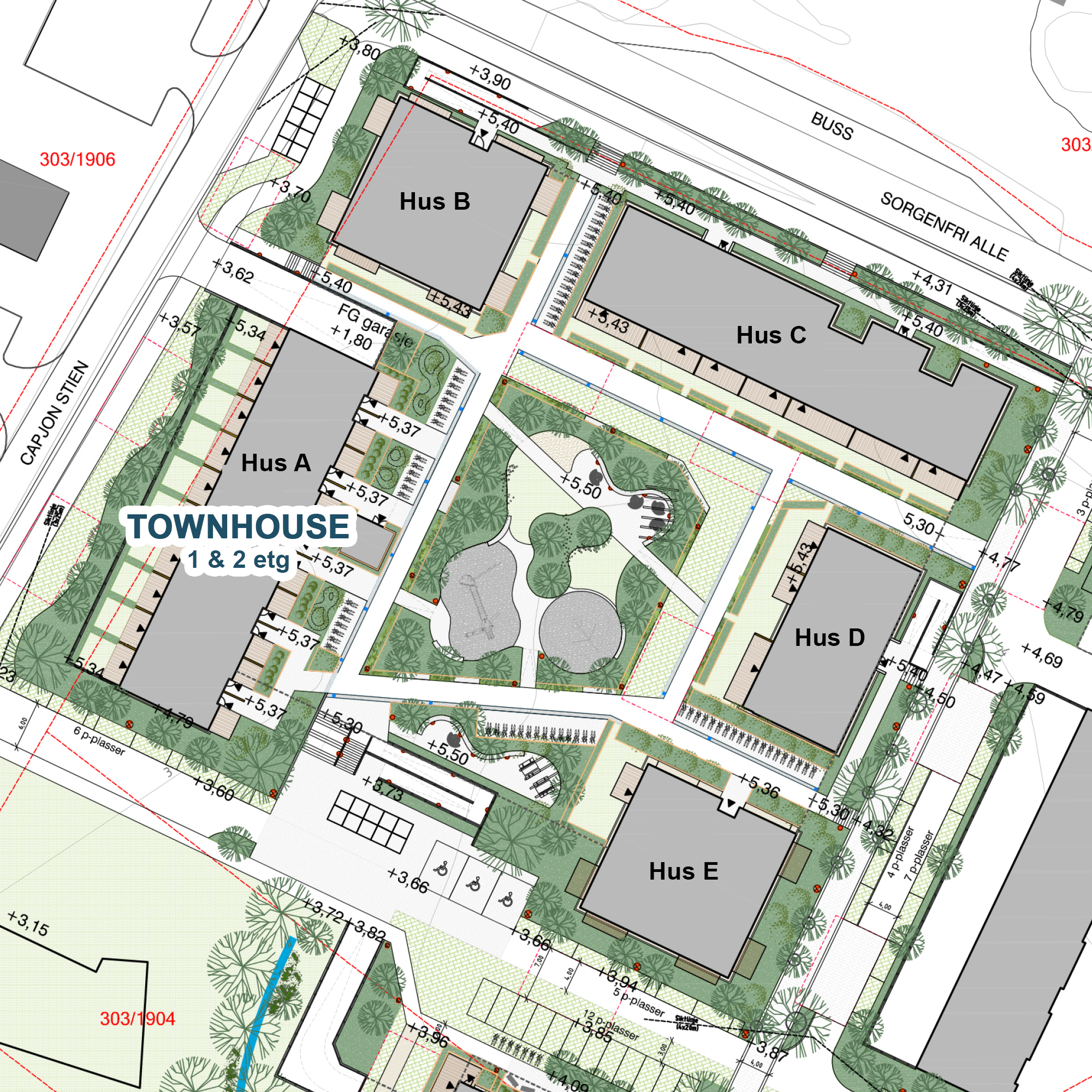 Utomhus Verket Atrium -Townhouse